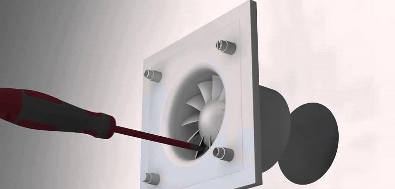 монтаж вентилятор в ванную