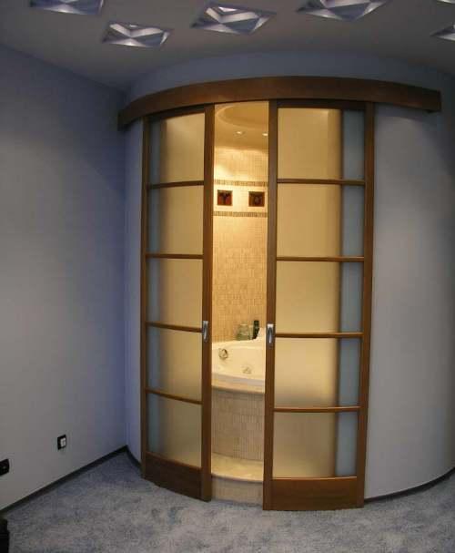 двери для маленькой ванной