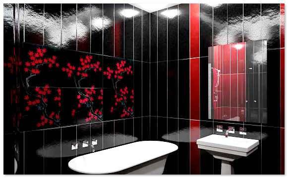 ванная комната панелями пвх