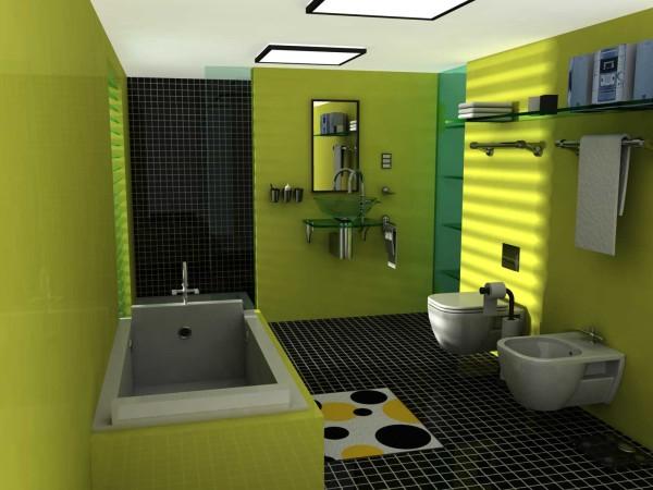 фото ванная комната зеленая