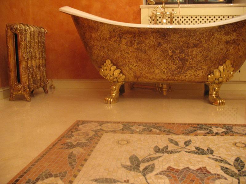отделка в ванной комнате прованс