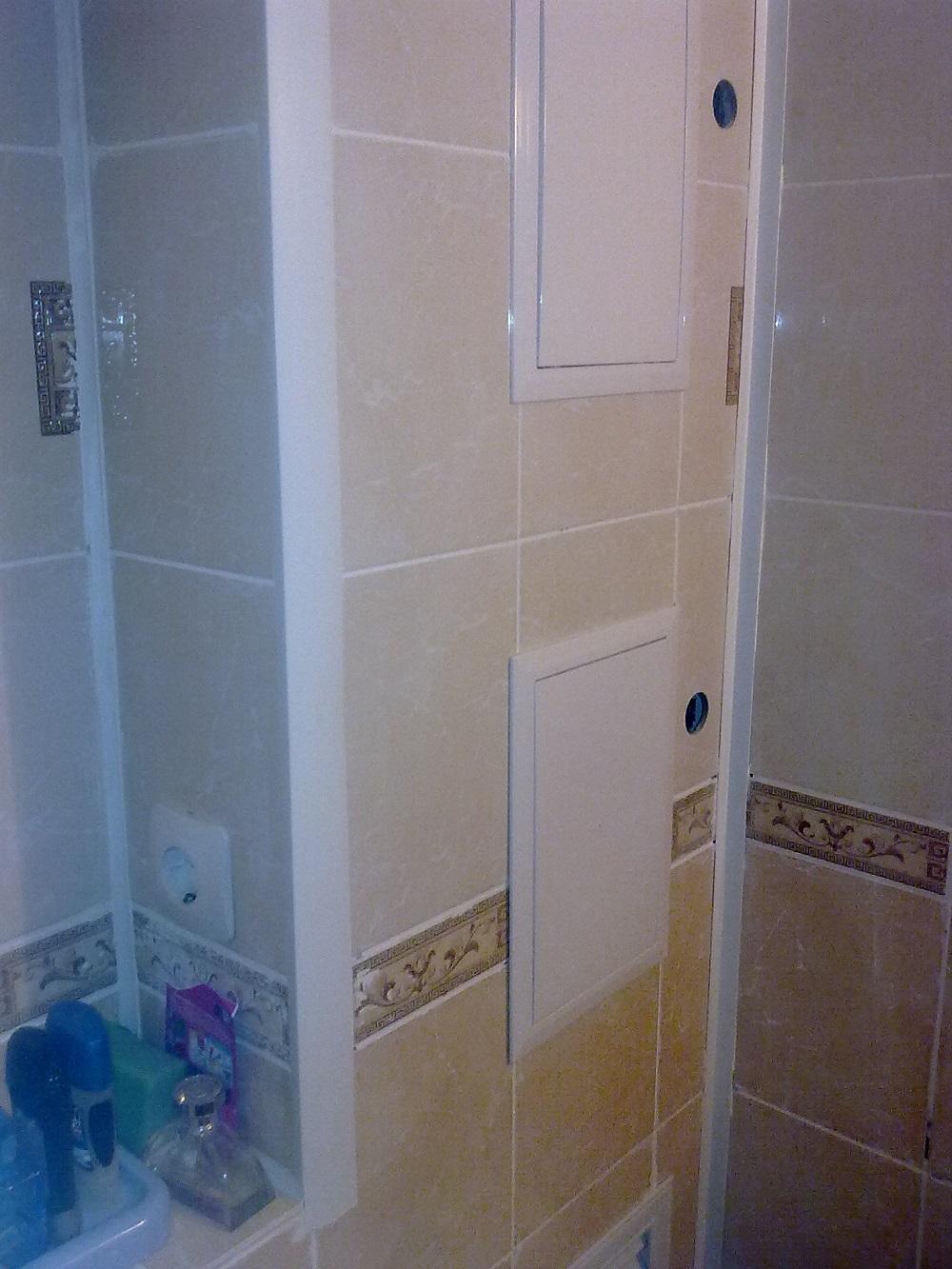 Короб в туалете скроет все трубы