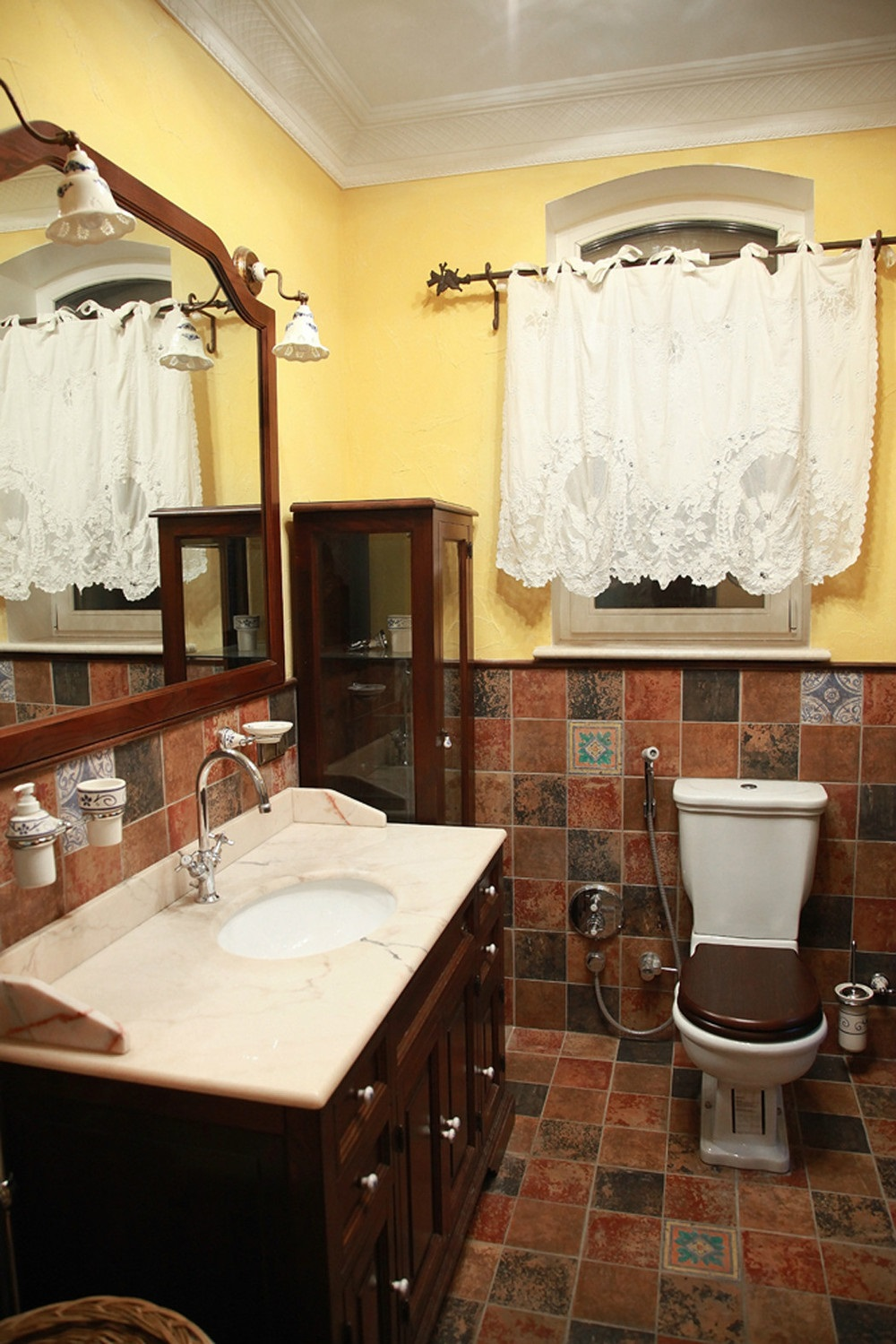 фото интерьера ванная прованс