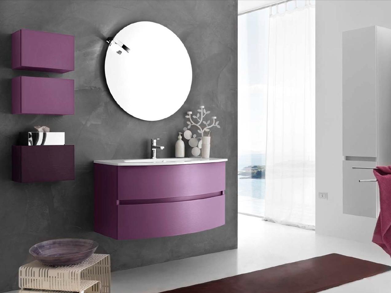 комплект мебели с круглым зеркалом