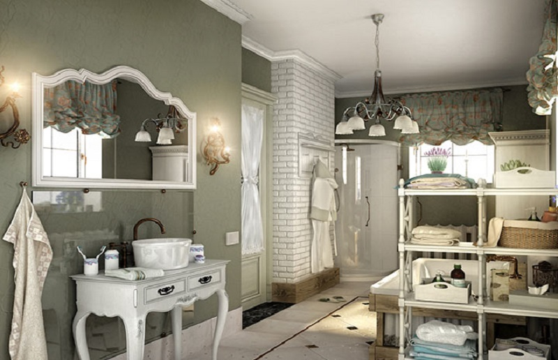 ванная прованс стиль интерьера