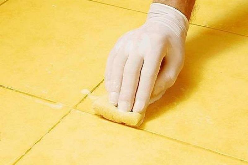 подготовка швов плитки перед покраской