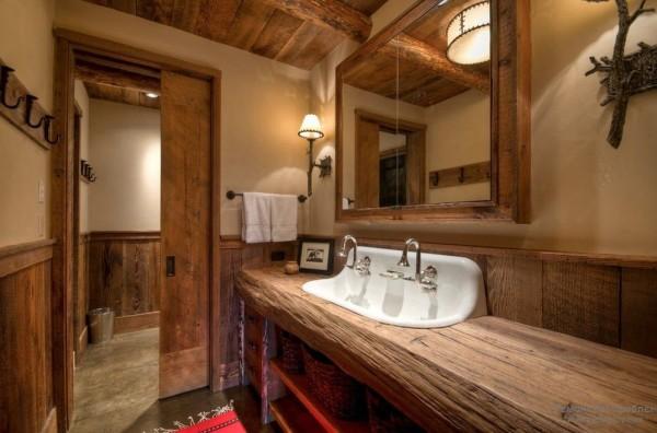 Деревянная ванна комната