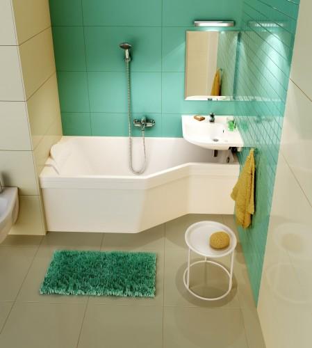 стиль асимметричная ванна