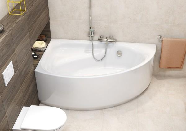 размер угловая ванна