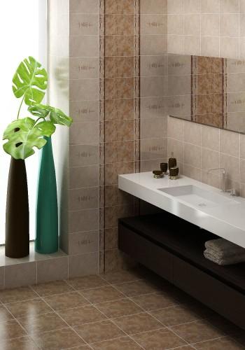 простая бюджетная ванная комната