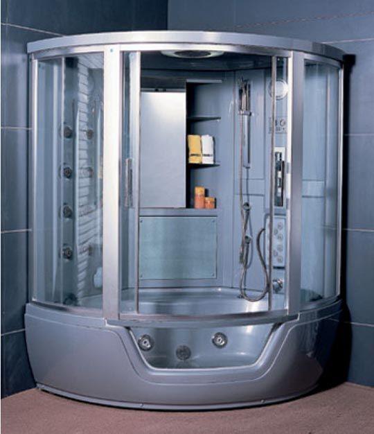 закрытая душевая кабина содержит и ванную