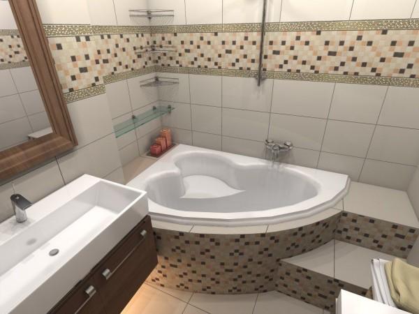 дизайн для маленькой ванны