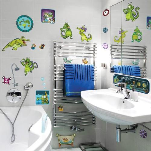 наклейки в дизайне ванной комнаты