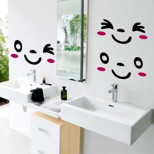 позитивные наклейки в ванную комнату