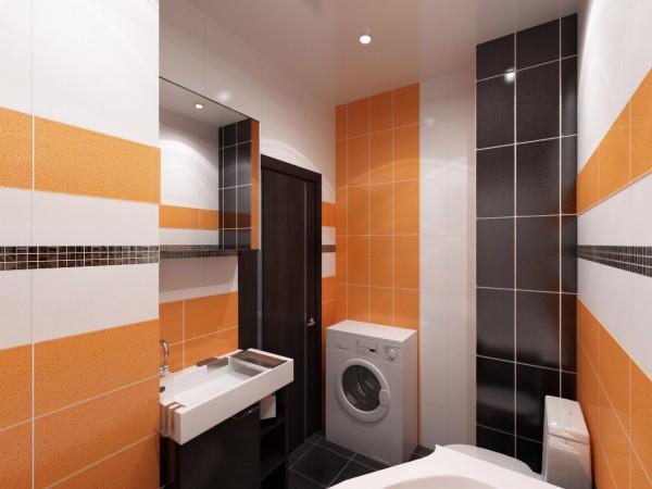 черно-оранжевая ванна
