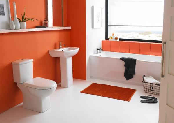 оранжево- белая ванна