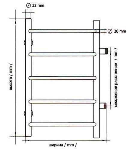 схема полотенцесушителя