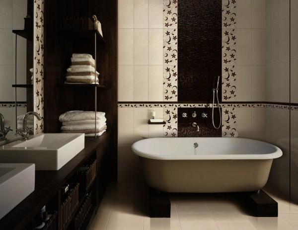 стильный ремонт ванной комнаты