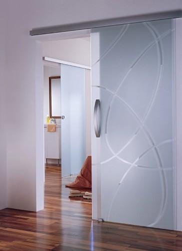 Стеклянная с напылением дверь