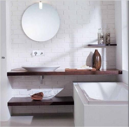 Деревянный стеллаж ванна