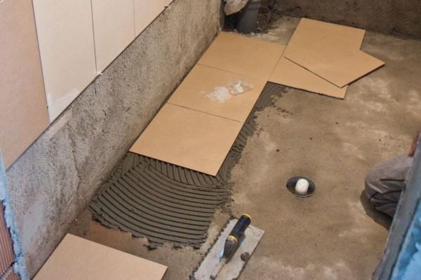 плитка на бетонный пол