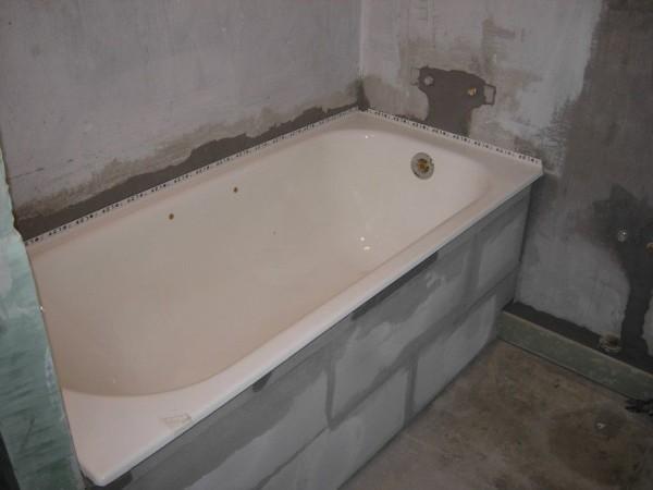 кирпичная кладка ванна