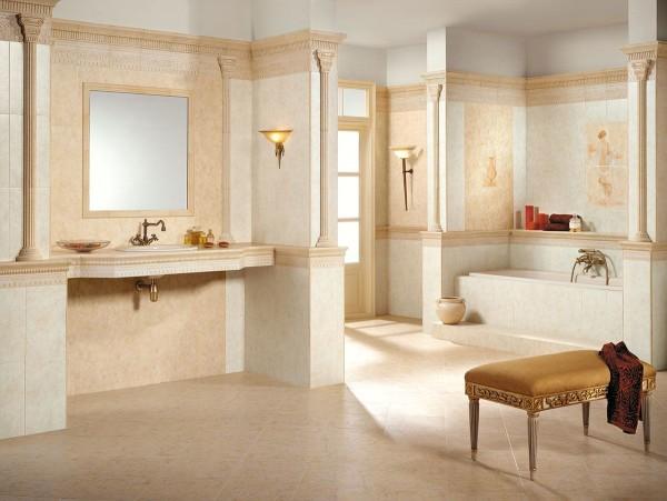 ванна в бежевых тонах