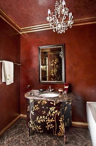 стильная штукатурка в ванной