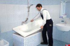 Как правильно установить акриловый вкладыш в ванну