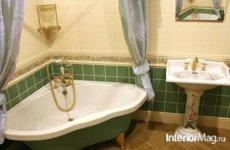 Угловая ванная в дизайне ванной комнаты