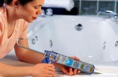 Разновидности герметика для ванной комнаты