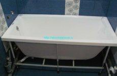 Каркас для акриловой ванны: особенности сборки монтажа