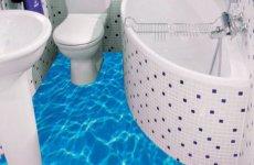 Сделаем ванную комнату яркой и оригинальной с помощью наливных полов