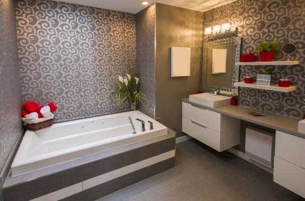 стильная ванна обои
