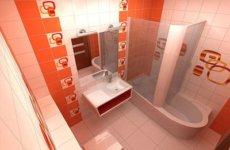 Создаем солнечный интерьер ванной с оранжевой плиткой