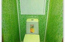 Обновляем туалет пластиковыми панелями