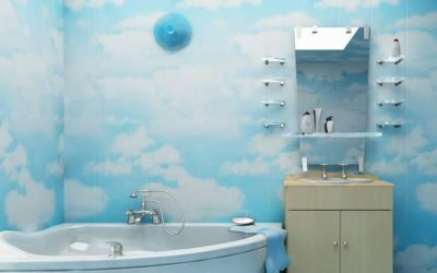 Современная отделка ванной комнаты пластиковыми панелями