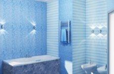 Отделка стен ванной комнаты пластиковыми панелями