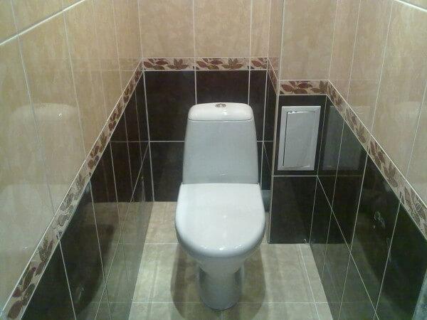 туалет с плиткой