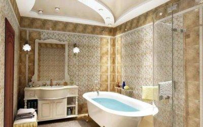 Какой может быть отделка потолка в ванной комнате