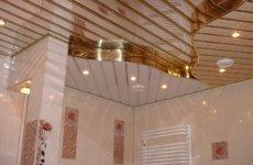 Домашнему мастеру: реечный потолок в ванной комнате