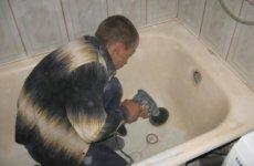 Несколько способов отремонтировать чугунную ванну своими руками
