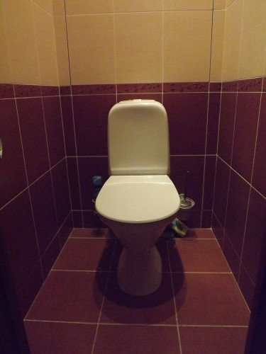 туалет бордовый