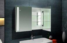 Меблируем ванную комнату: навесной шкаф с зеркалом