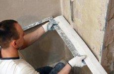 Как отштукатурить стены под плитку в ванной комнате?