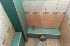 Как можно спрятать трубы в ванной?