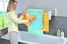 Сушилка для белья: удобный вариант для вашей ванной комнаты