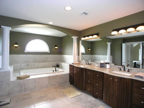 красивая ванна светильники