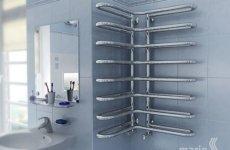 Угловой полотенцесушитель: функциональное оборудование для ванной комнаты