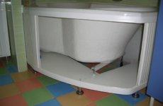Изготавливаем и монтируем экран под ванну самостоятельно